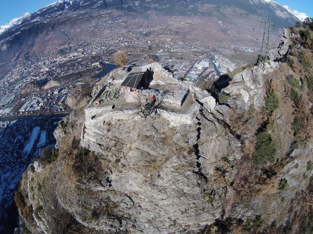 Survol de Beauregard par un Drone du bureau d'architecture Papon /Sierre